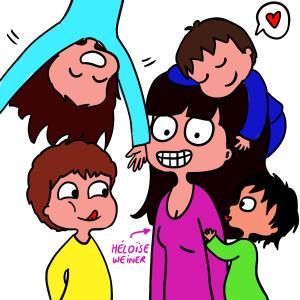 Le quotidien en BD d'une famille (a)typique!